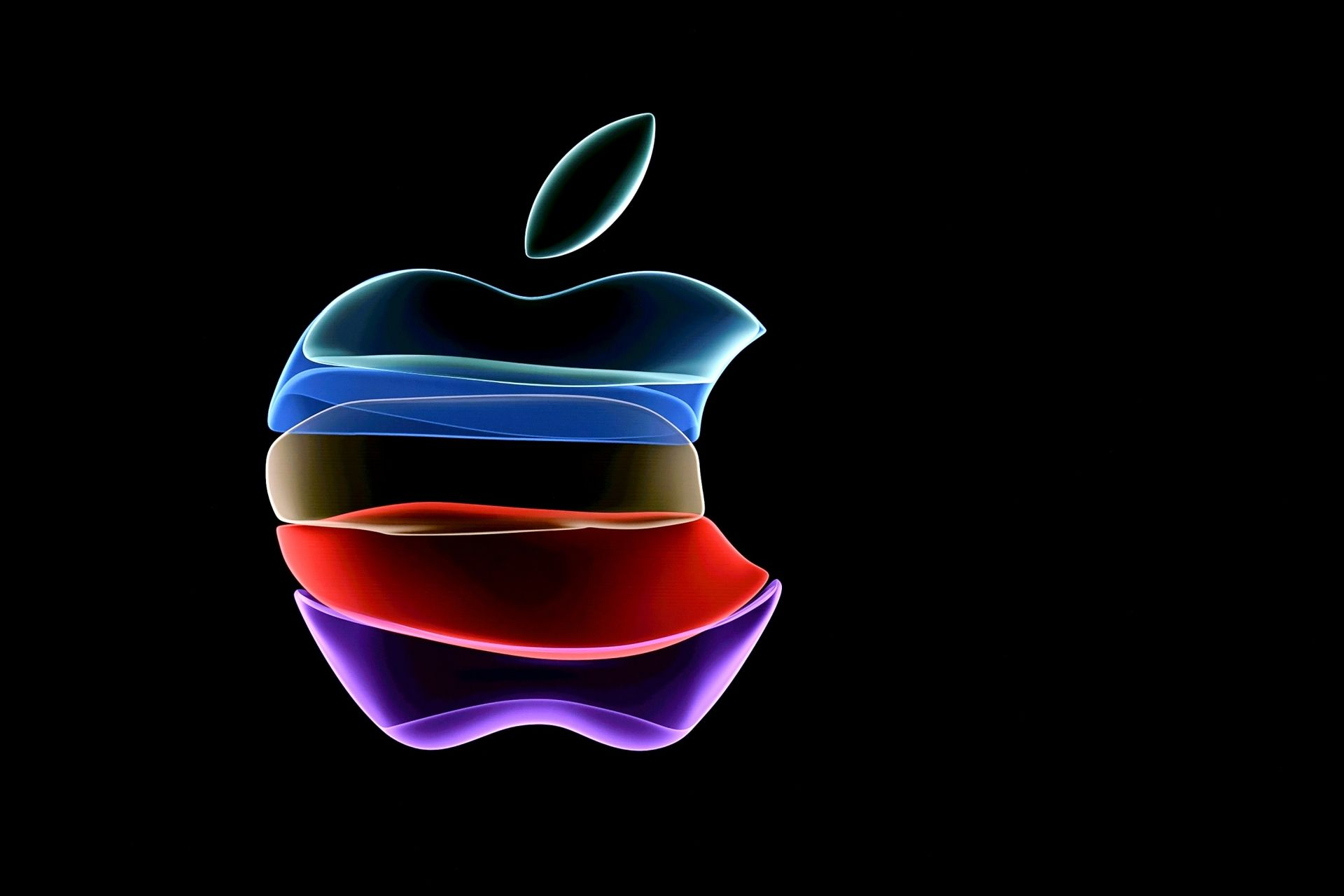 (FILES) In this file photo the apple logo is projected on a screen before the start of a product launch event at Apple's headquarters in Cupertino, California, on September 10, 2019. - Apple on September 8, 2020 fired off invitations to a September 15 online event expected to introduce a new-generation iPhone tailored for superfast 5G telecom networks. The typically tight-lipped technology titan revealed only that the presentation would be streamed starting at 1700 GMT from its headquarters in Silicon Valle