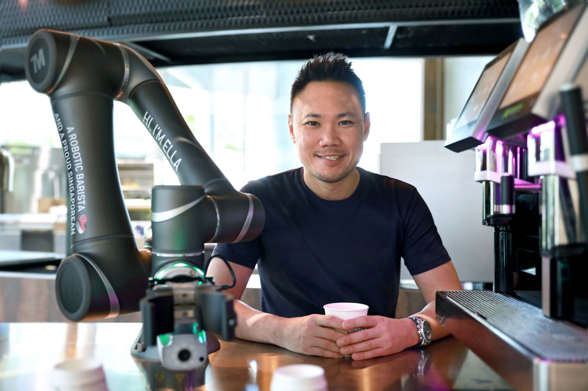 Would You Try A Cup Of Coffee By Ella, Singapore's First Robotic Barista?
