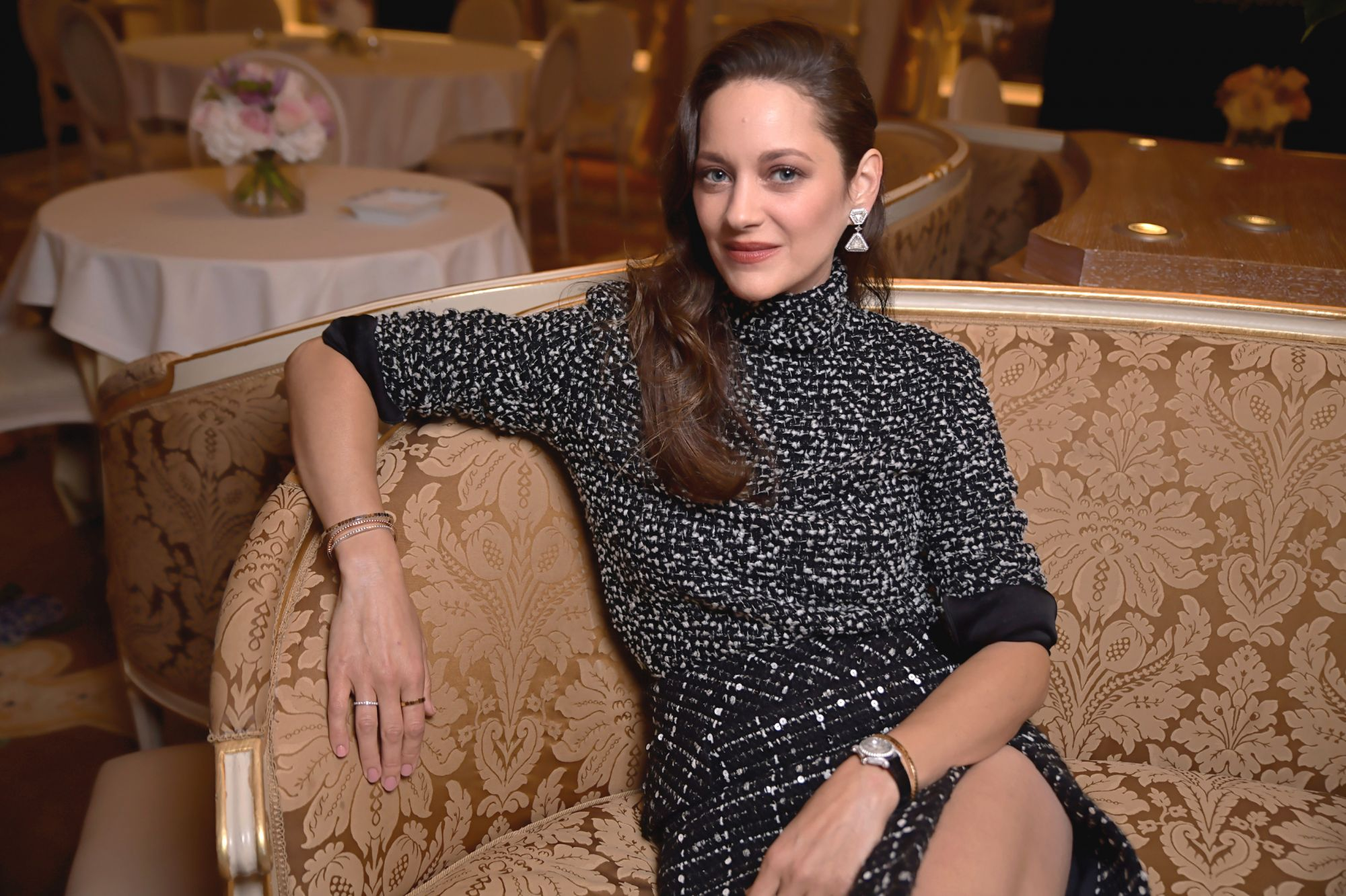 Academy Award-winning actress Marion Cotillard Chopard Marion Cotillard Ice Cube Jewelry