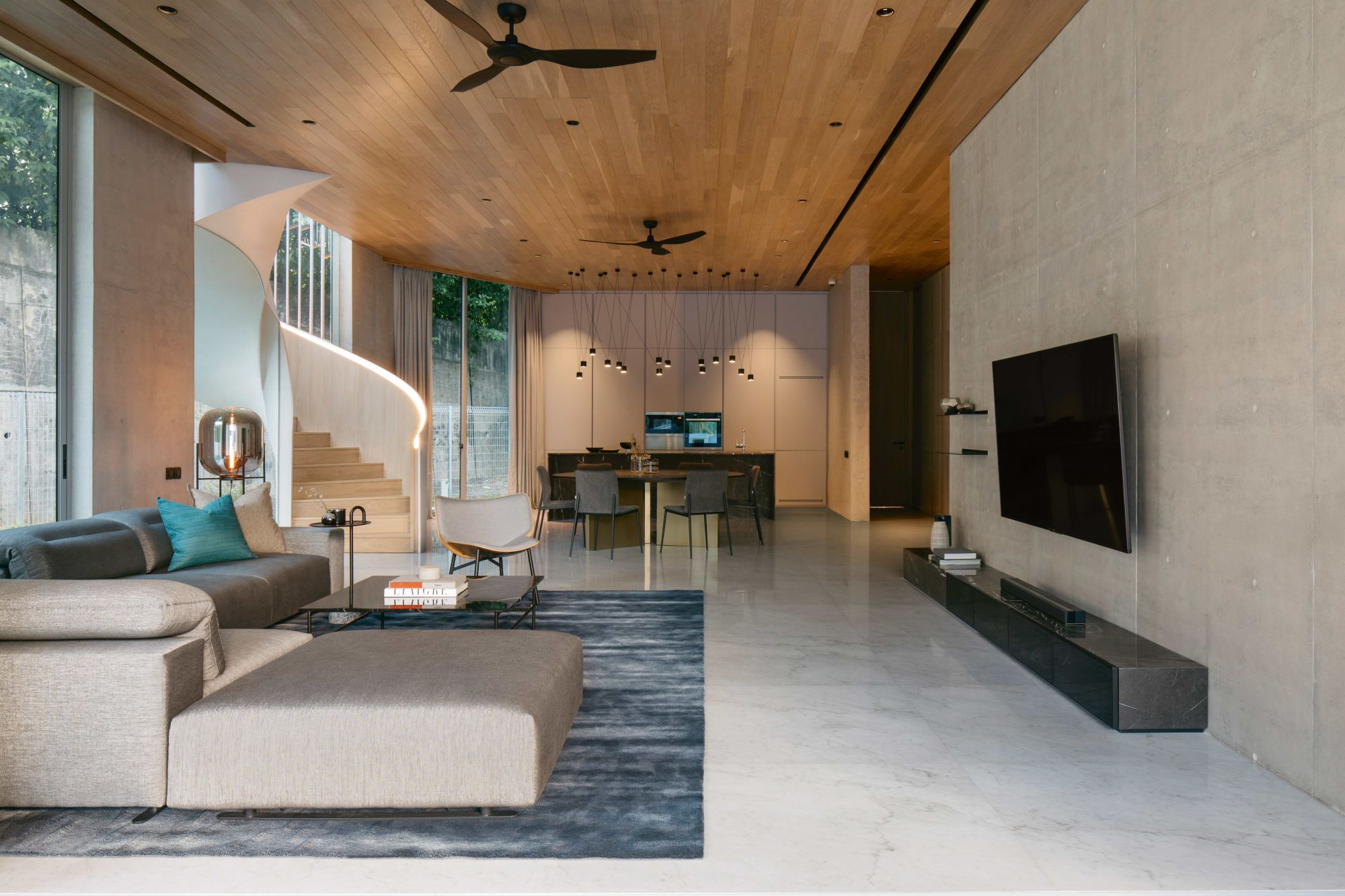 Home Tour: How A Curved Staircase Became The Focal Point Of This Minimalist House