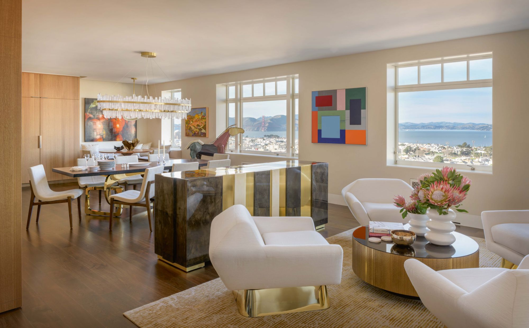 Home Tour: An Art-Filled Penthouse In San Francisco With Pink Accents