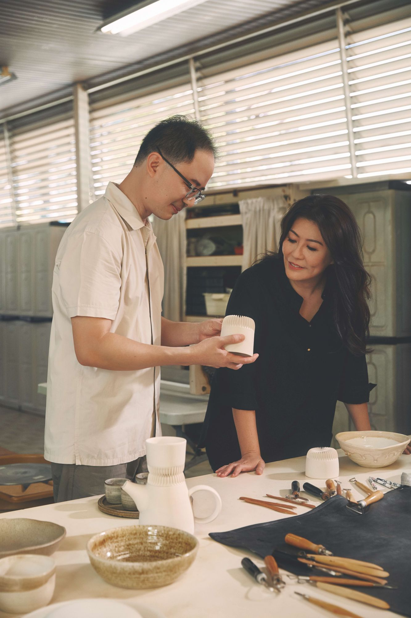 Singaporean Ceramicists Loh Lik Kian and Debbie Ng's Tableware Serves as Canvases For a Chef's Plating
