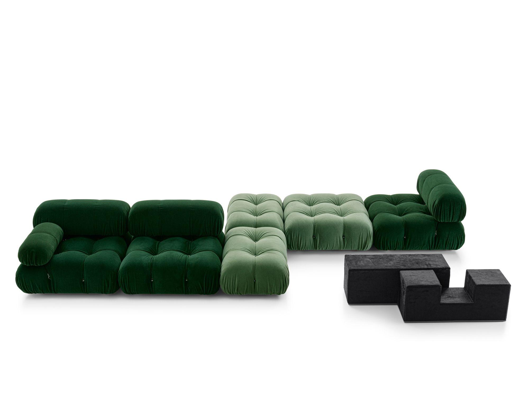 B&B Italia Camaleonda sofa and Gli Scacchi tables by Mario Bellini, all from Space Furniture