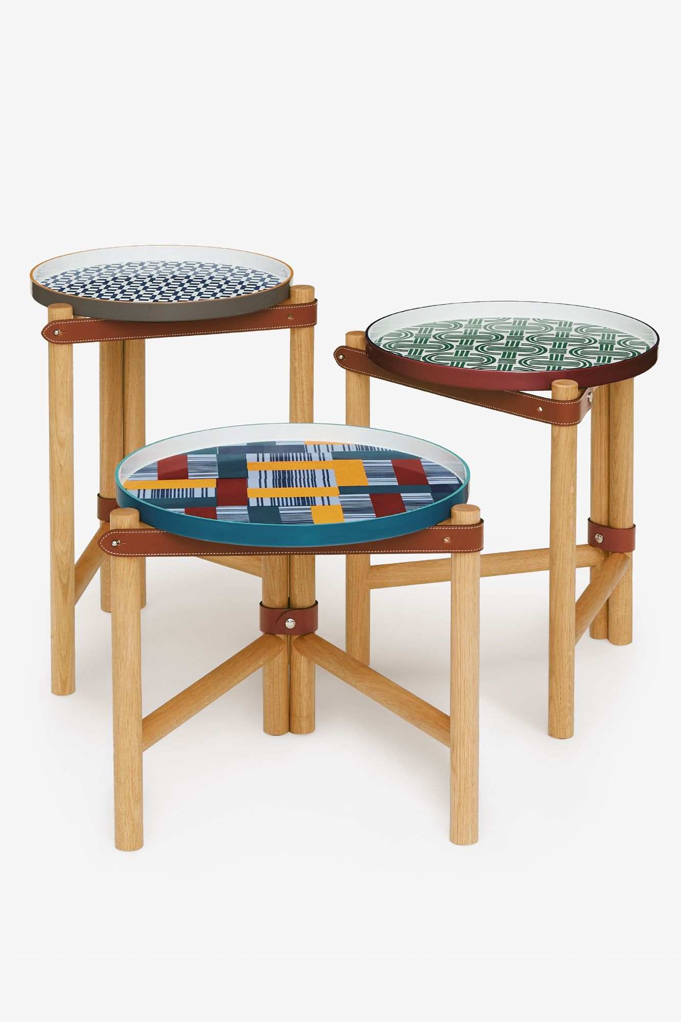 Les Trotteuses d'Hermès occasional tables, from Hermès