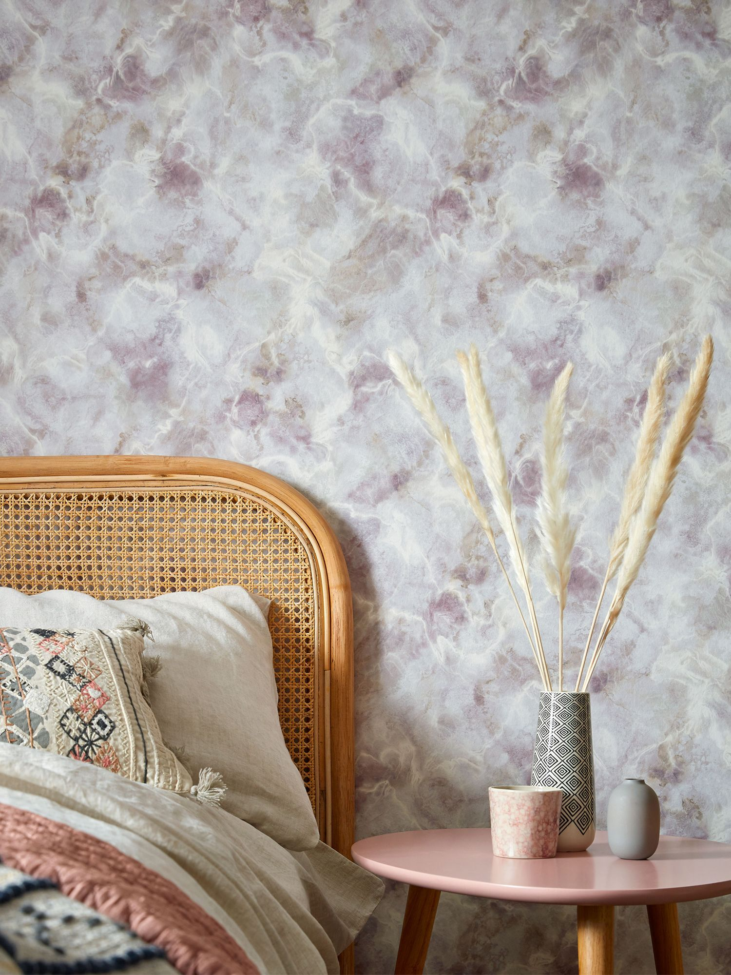 1838 Wallcoverings Quartz Chamomile wallpaper, from Altfield Interiors