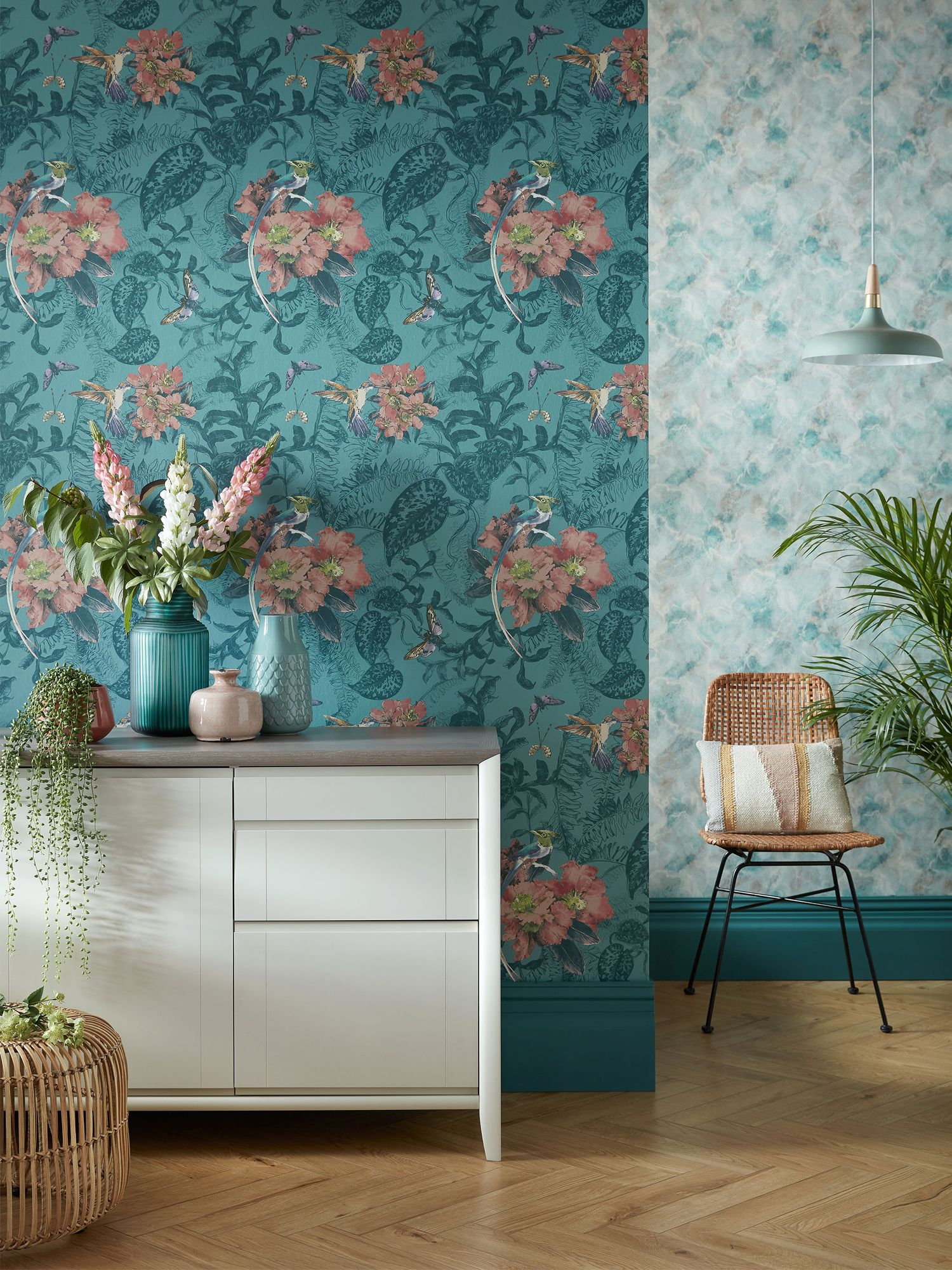 1838 Wallcoverings Hedgerow Mineral wallpaper, from Altfield Interiors