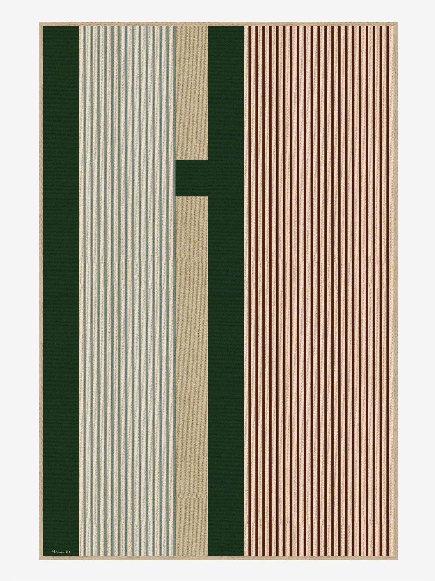 H Vibration rug, from Hermès
