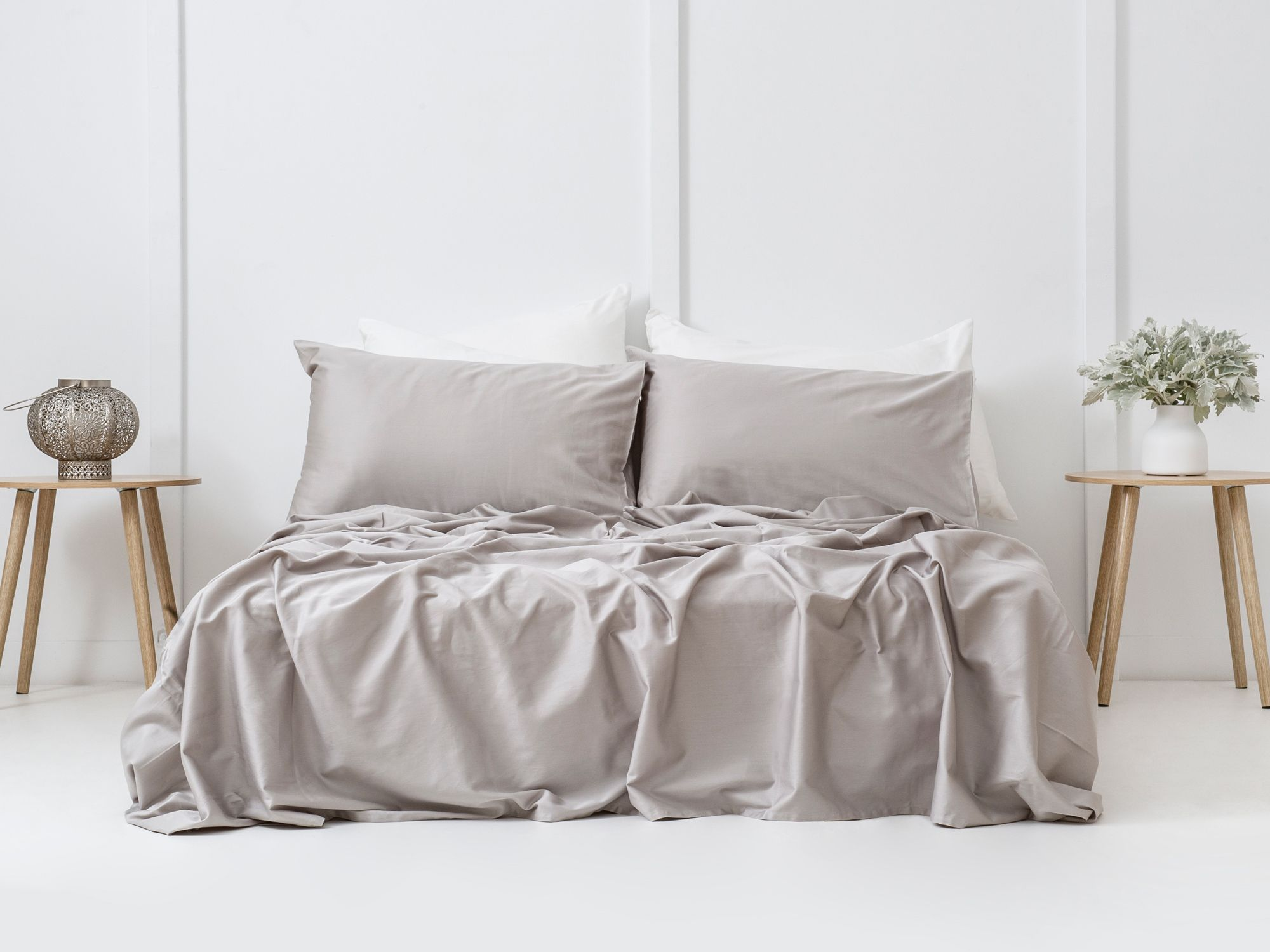 Designed with a deep gusset, the sheet set features a subtle crinkled effect (Image: Bhumi)