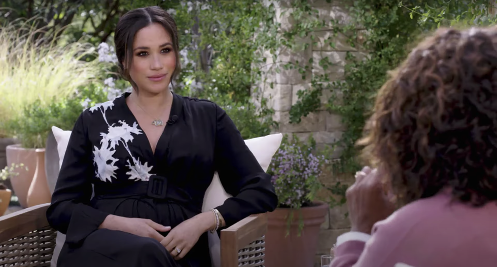 The Meaning Behind Meghan Markle's Dress In Her Oprah Interview