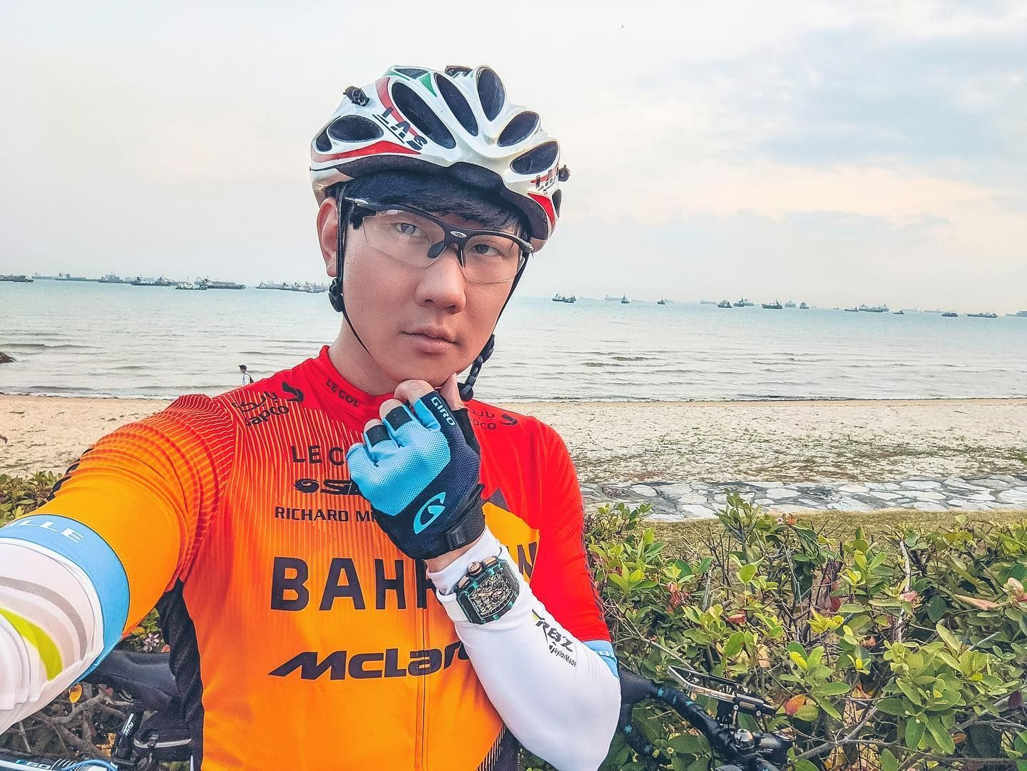 JJ Lin Spotted Wearing an Exclusive Richard Mille Watch While Out Cycling in Singapore