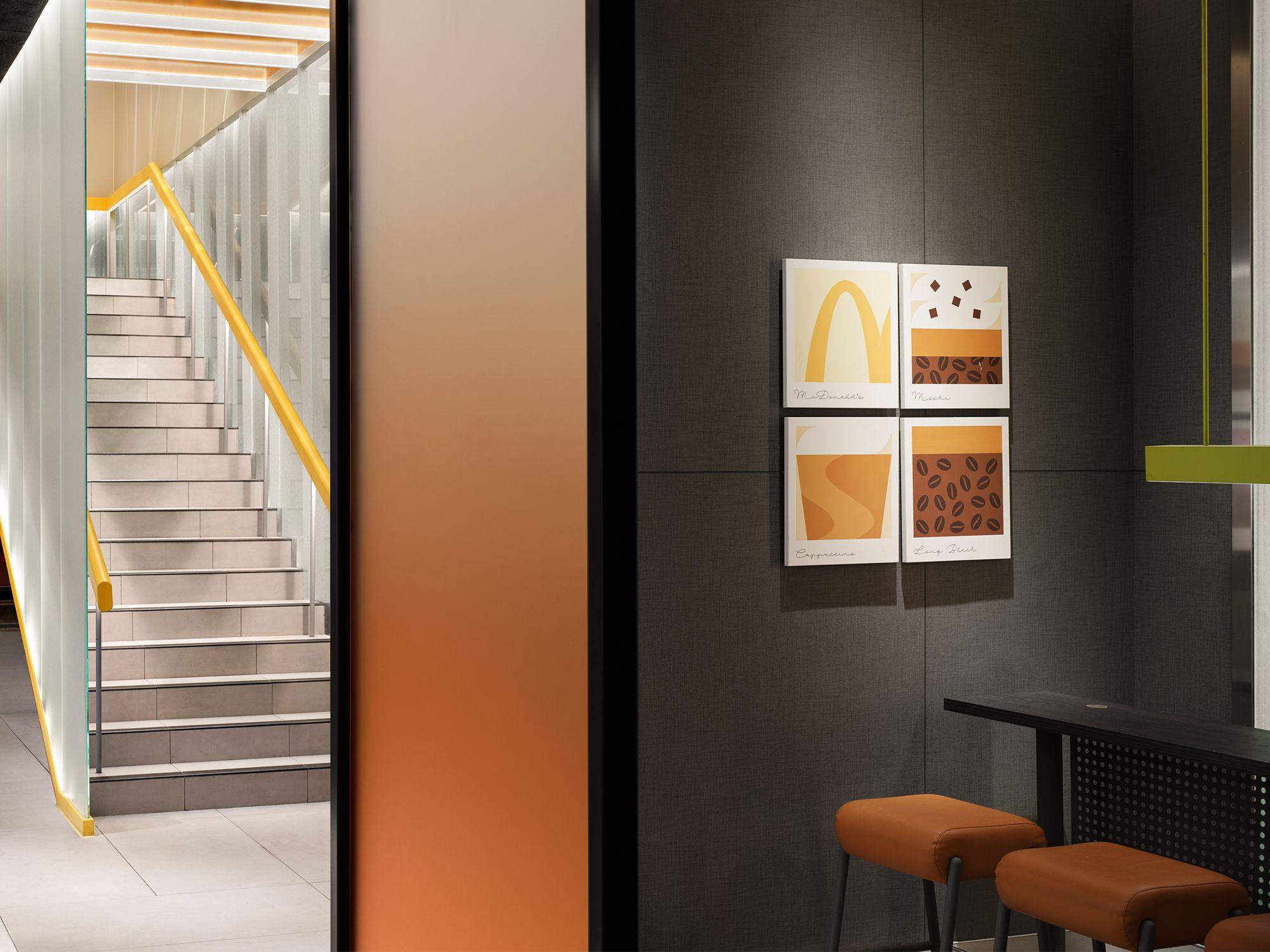 McDonald's Chengdu Cube flagship restaurant, designed by Steve Leung