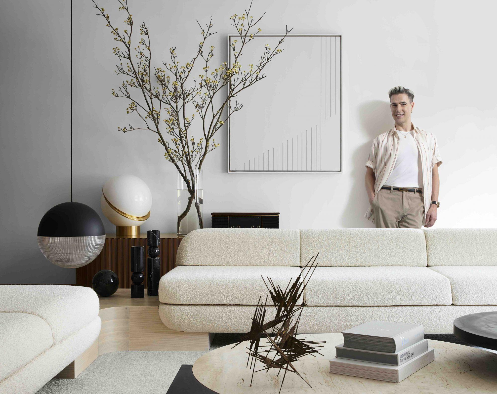 Home Tour: Inside Designer Lee Broom's Stylish, Monochromatic Penthouse in New York