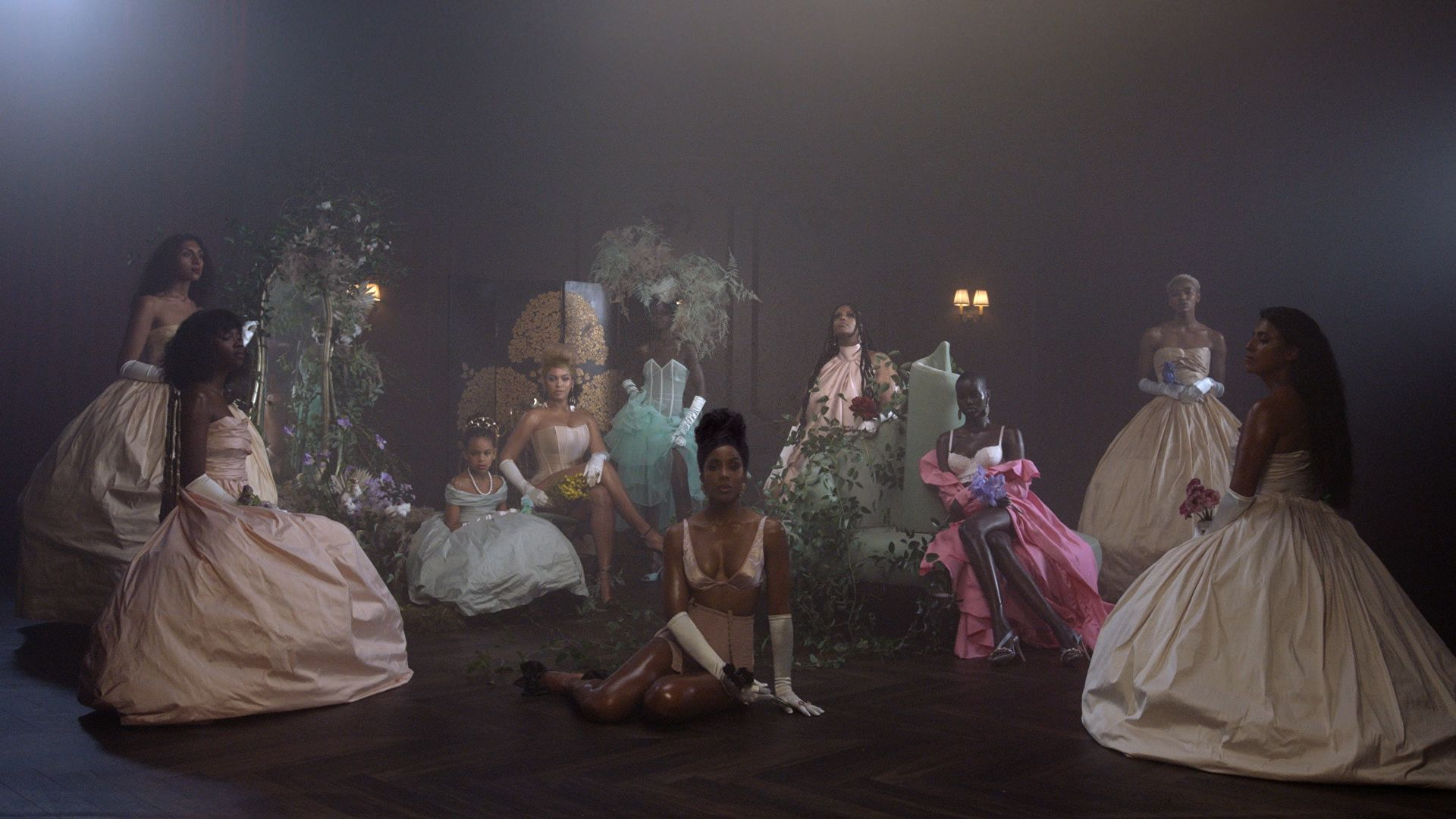 Beyonce Blue Ivy Carter and Kelly Rowland in Brown Skin Girl from the visual album BLACK IS KING, on Disney+