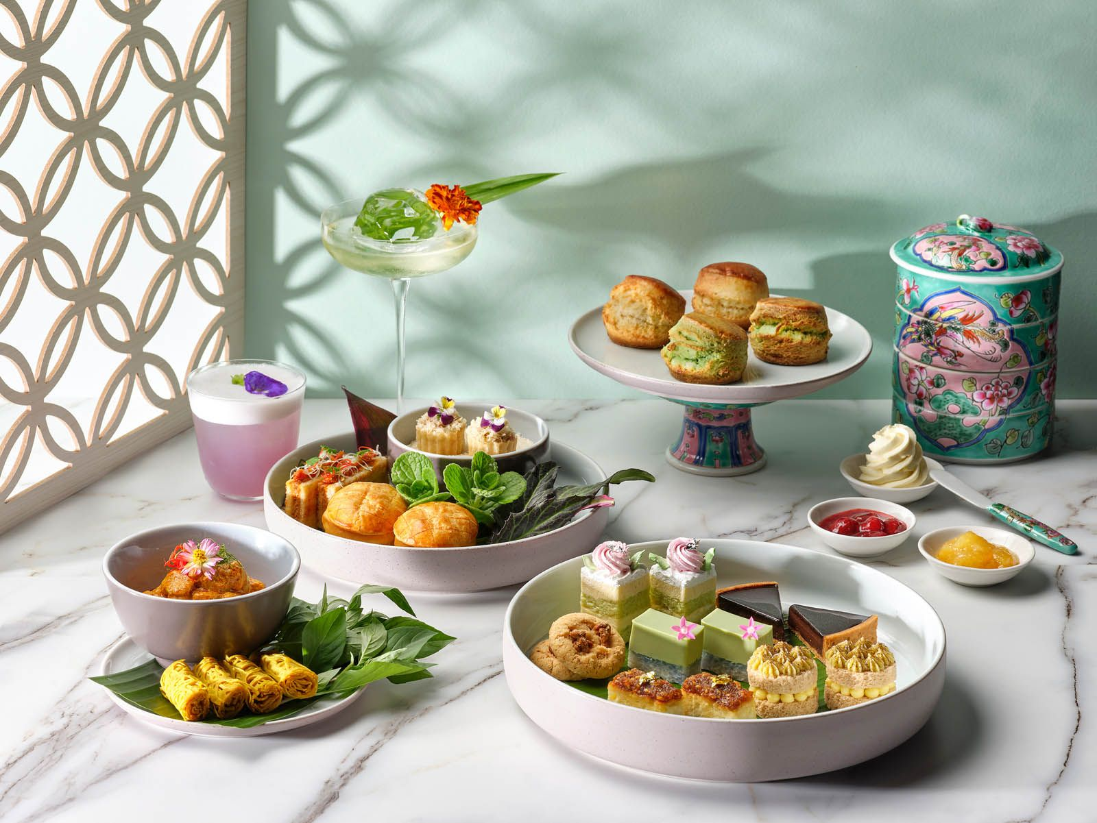 Peranakan Weekend Afternoon Tea Spread