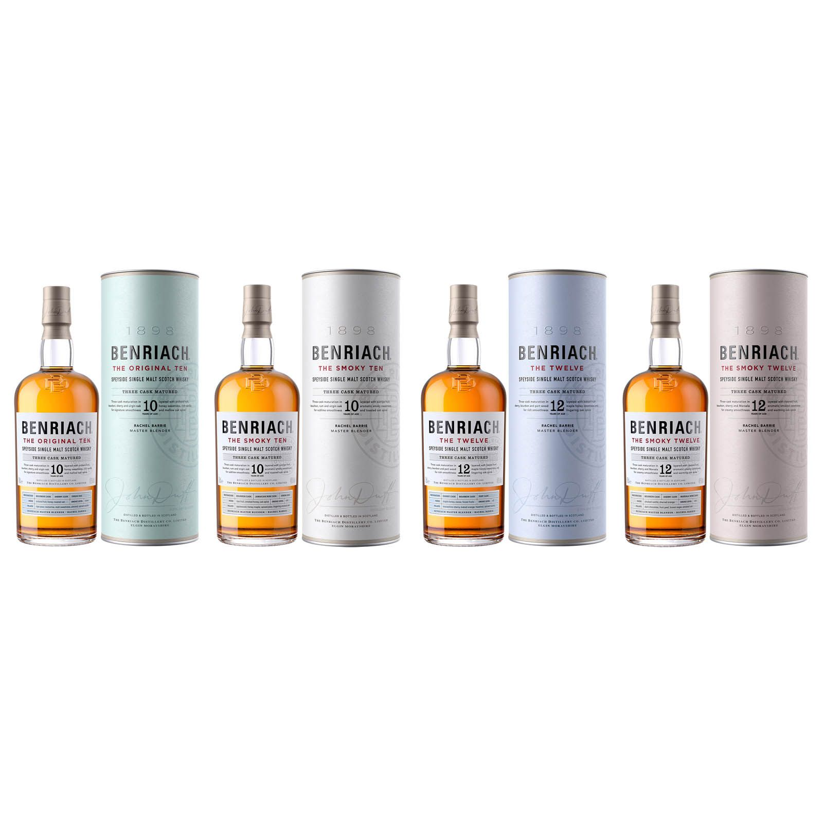 Benriach's new core range of whiskies