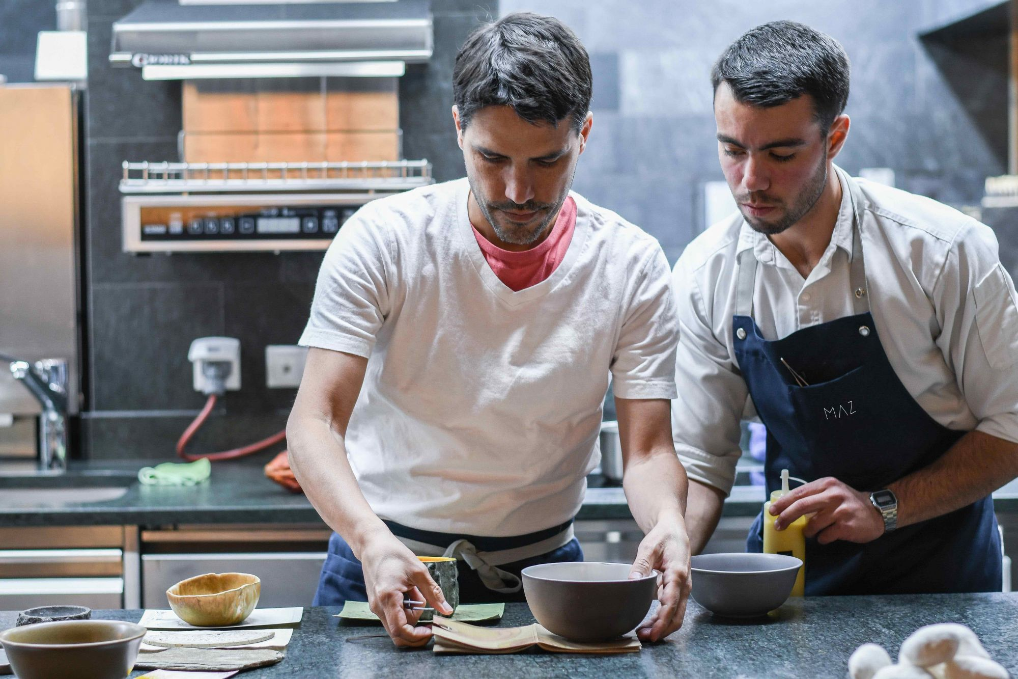 Virgilio Martinez and chef for restaurant Maz in Tokyo