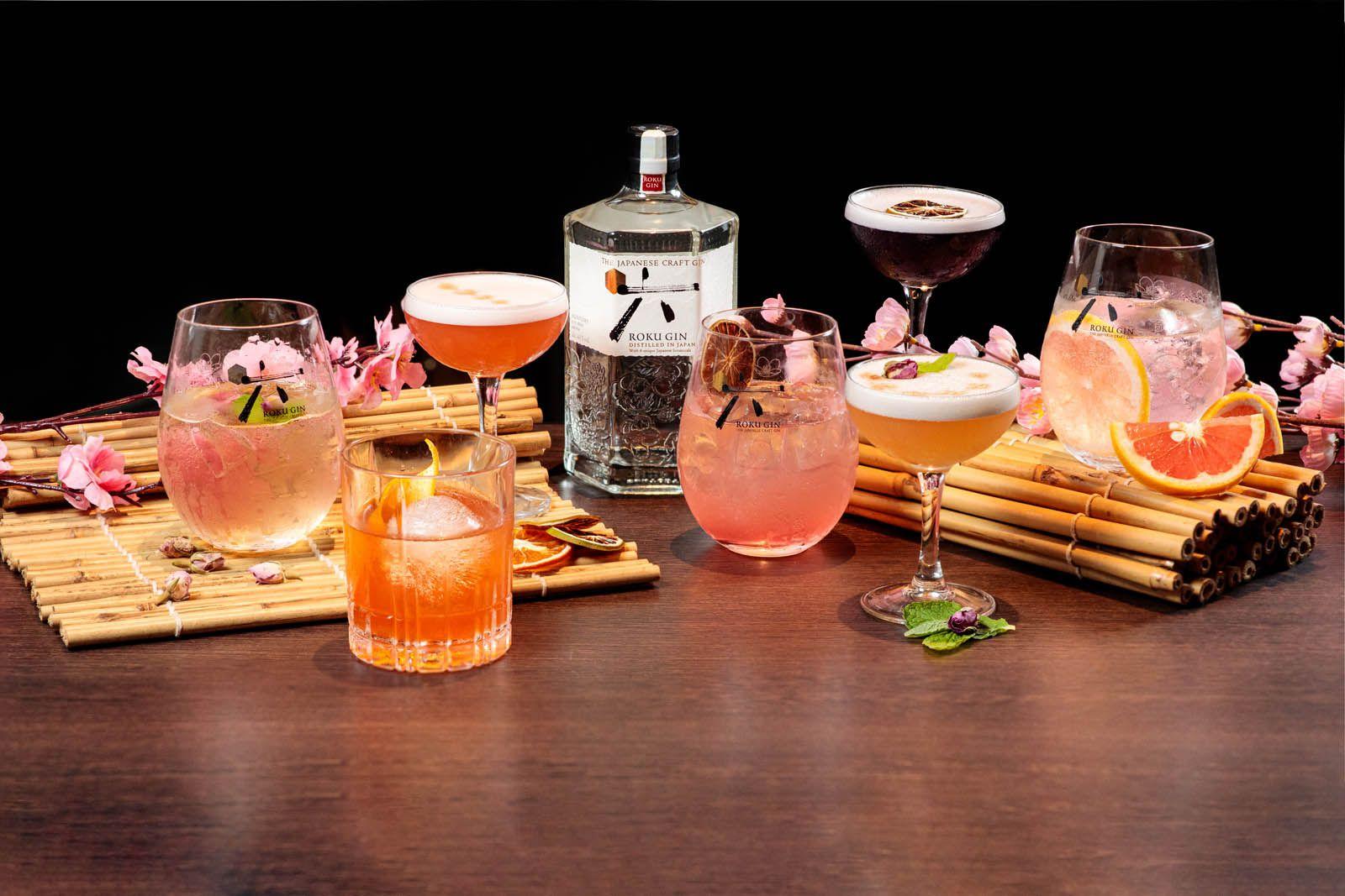 Roku Gin cocktails at Crossroads (Image: James Hii | www.jameshii.com)