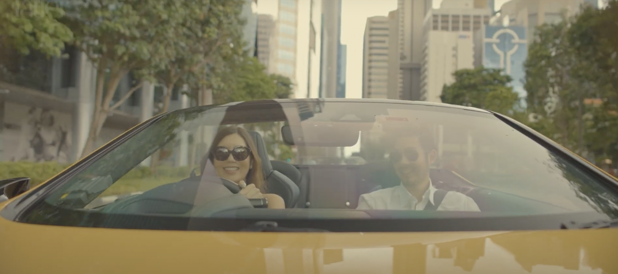 Daphne Wee and Edmund Santoso Take the Lexus LC Convertible For a Spin