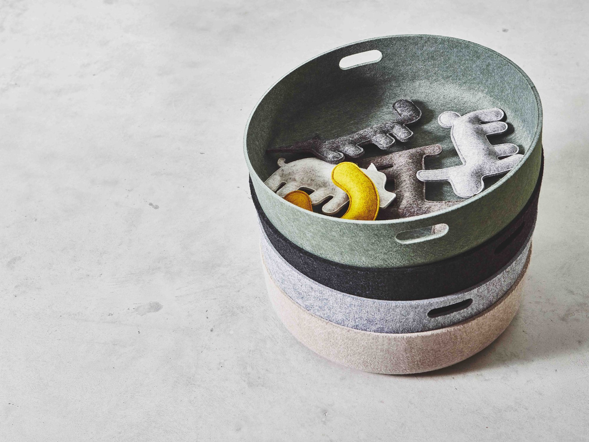 MiaCara Cesto toy basket by Hans Thyge & Co, available from Danish Design Co