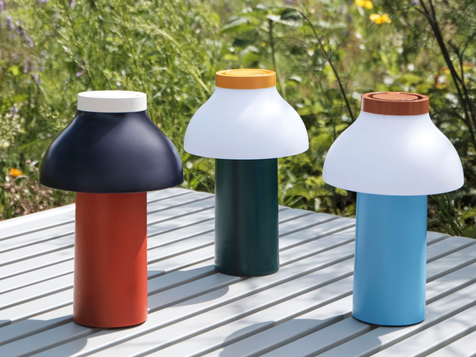 Hay PC portable lamps by Pierre Charpin, from hay.dk