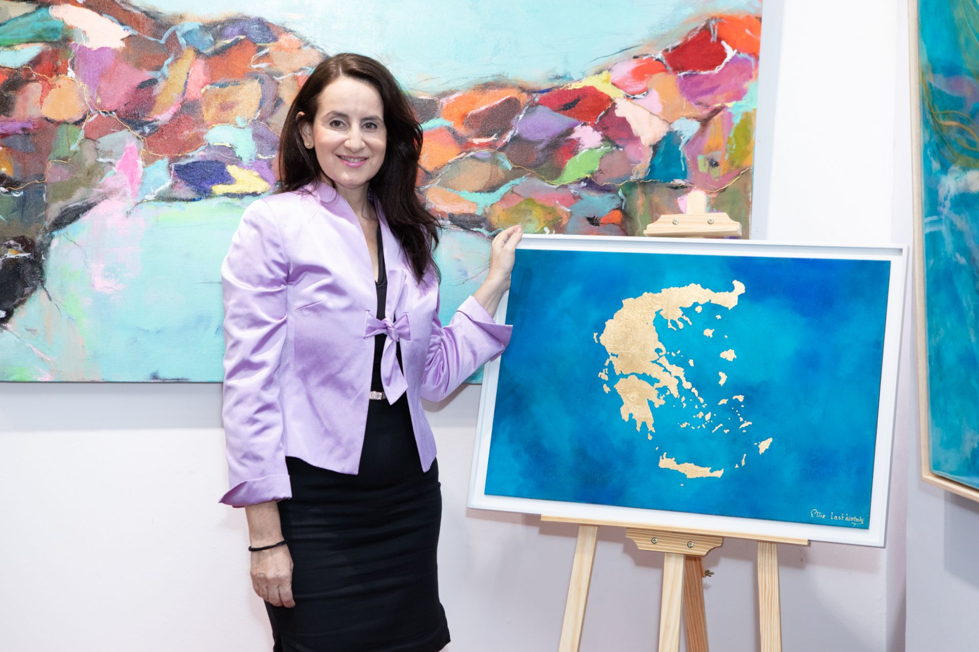 Greek Contemporary Artist Ellie Lasthiotaki Holds First Foreign Solo Art Show at Gallery 1819
