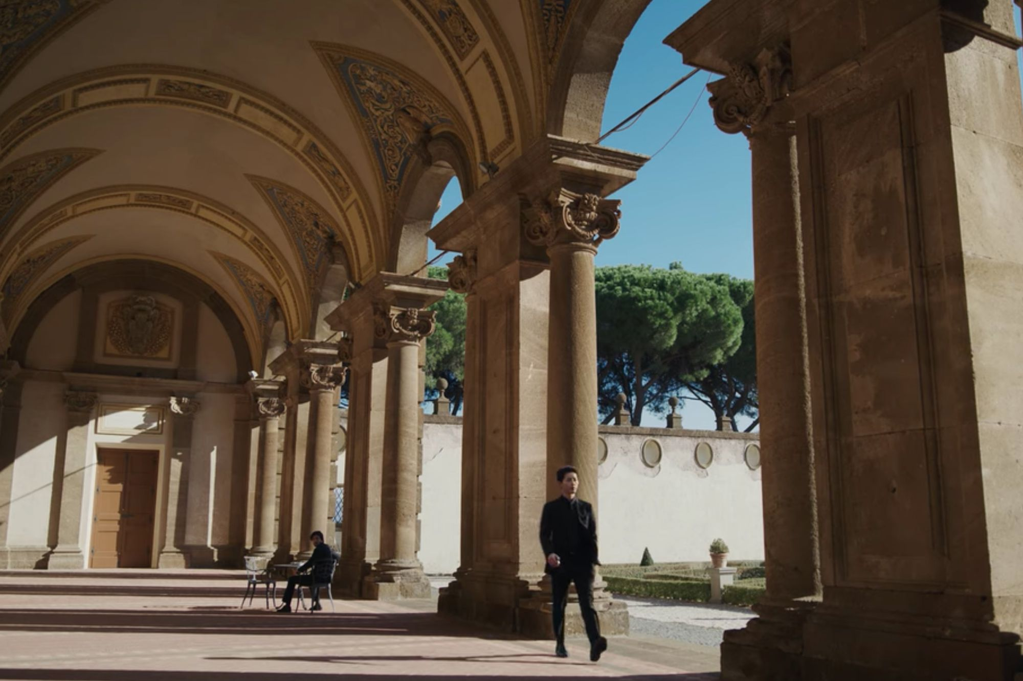 The scenes in Vincenzo featuring Italy's impressive architecture were all created using computer graphics (Image: Netflix)