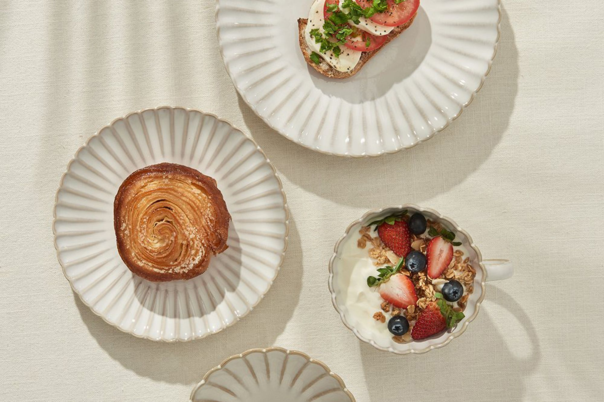 The dinnerware set adds an elegance and sophistication to any tabletop Photo: Eloise