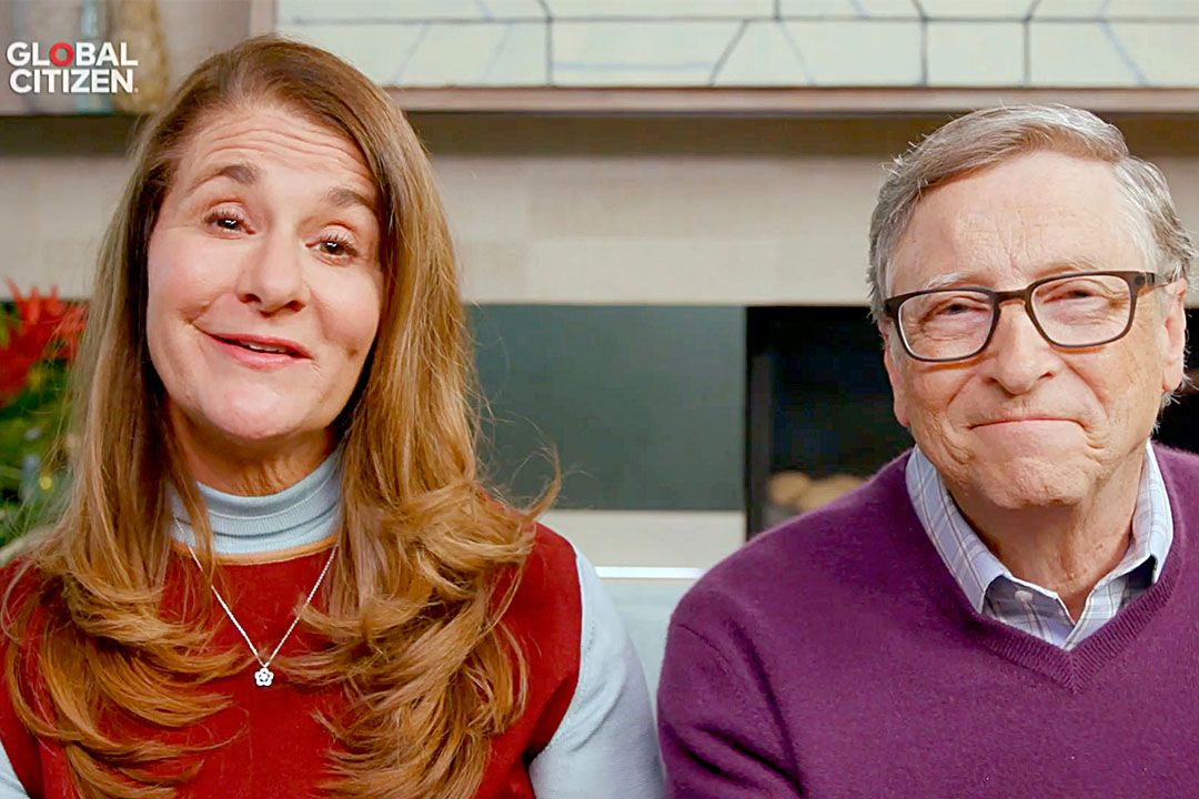 """Melinda Gates and Bill Gates speak during """"One World: Together At Home"""" presented by Global Citizen on April, 18, 2020. Photo: Getty Images/Getty Images for Global Citizen"""