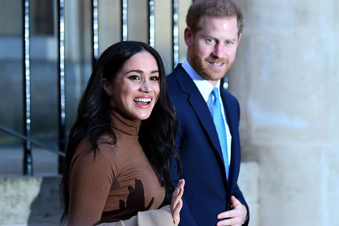 Prince Harry and Meghan after their visit to Canada House on January 7, 2020. Photo: Daniel Leal-Olivas-WPA Pool/Getty Images