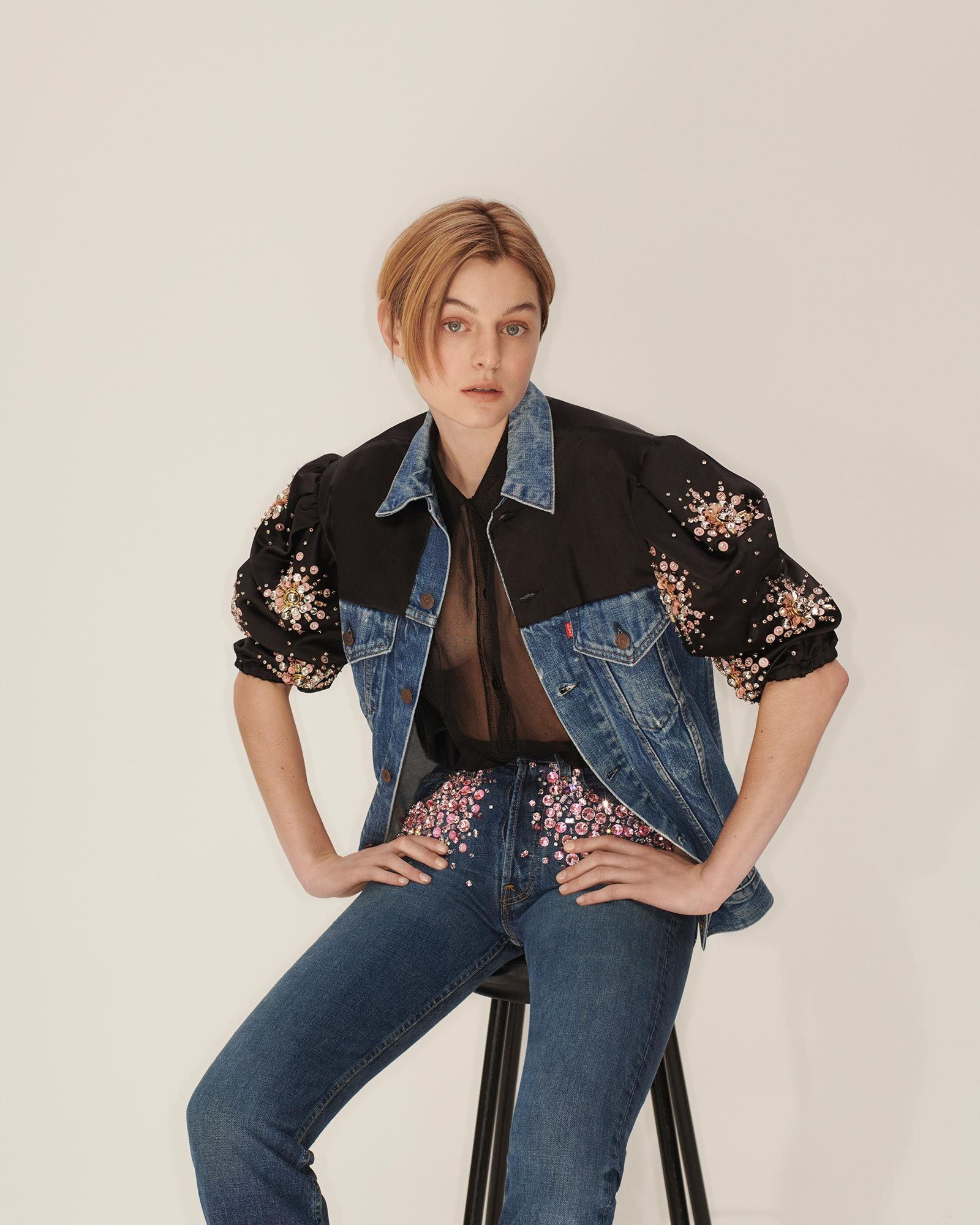 Of Course Miu Miu's Take on Upcycled Denim Is Super Chic