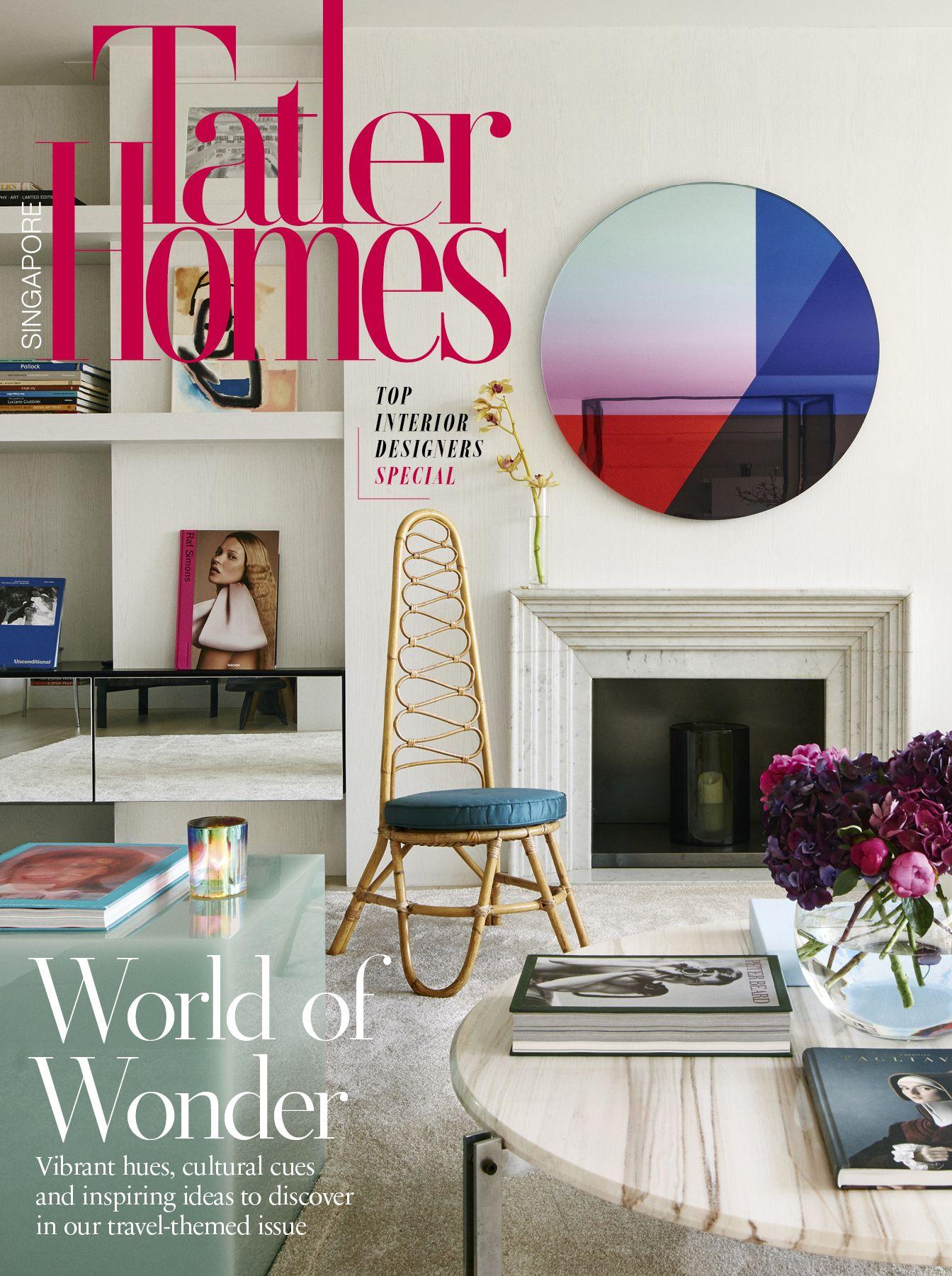 La couverture de juin-juillet 2021 de Tatler Homes Singapore, mettant en vedette un appartement de Barcelone conçu par Roser Coixet Interiors