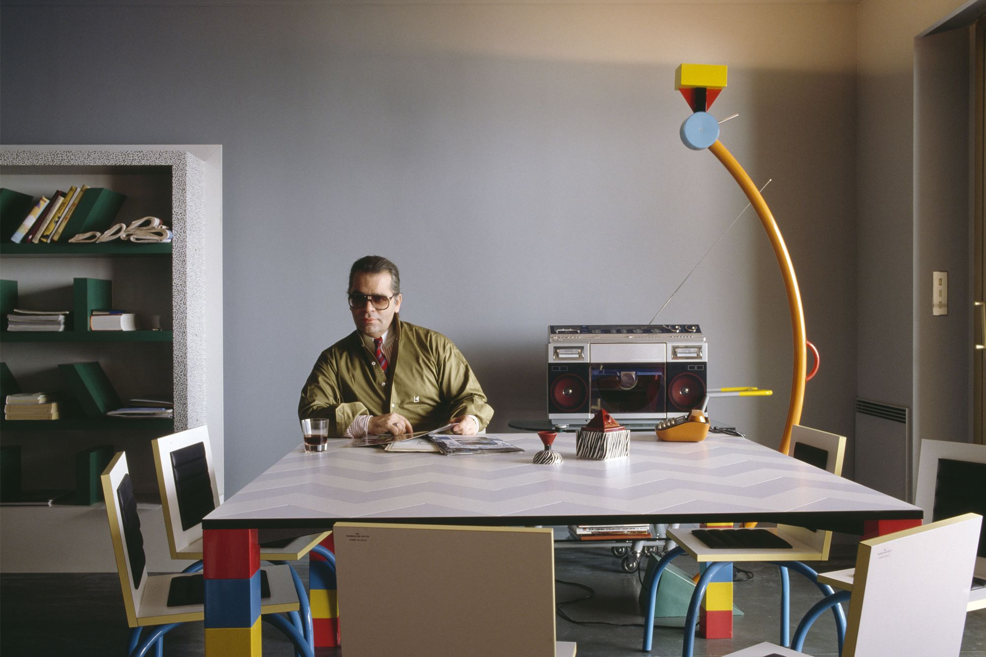 Karl Lagerfeld is said to be one of the collective's biggest fan; he even had an apartment full of his salient Memphis collection Photo: Courtesy of Vitra Design Museum