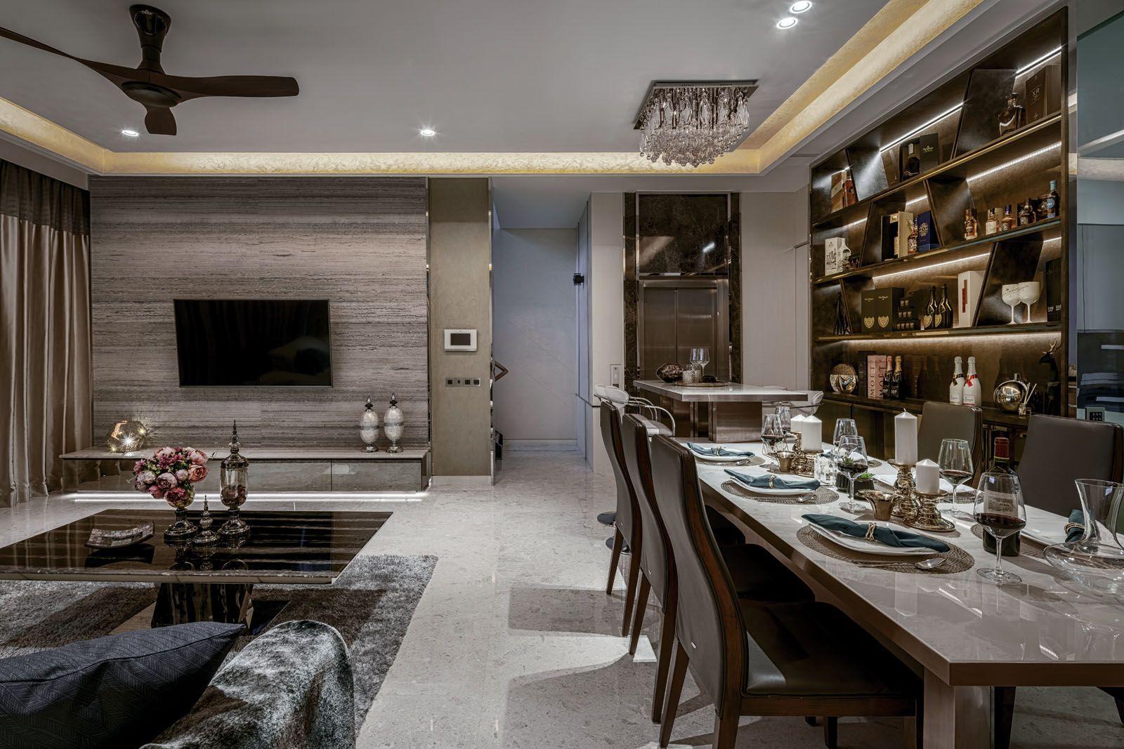 Die stilvolle und luxuriöse Doppelhaushälfte Summerhaus D'zign verfügt über einen angeschlossenen Wohn- und Barbereich
