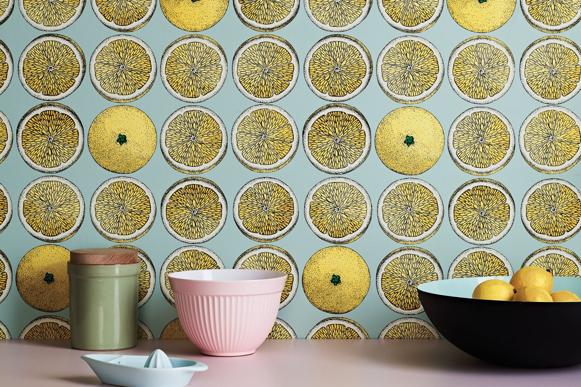 Cole & Son x Fornasetti Senza Tempo collection Arance wallpaper, from Goodrich Global