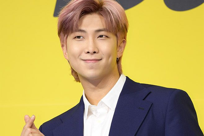 RM of BTS attends a press conference for BTS's new digital single 'Butter'. Photo by The Chosunilbo JNS/Imazins via Getty Images