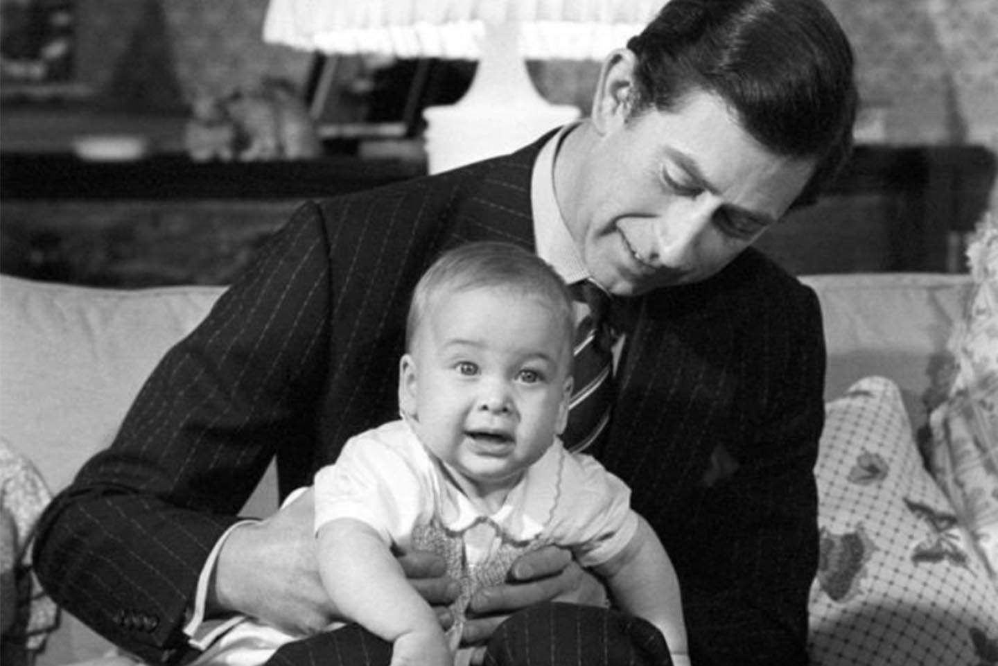 In honour of Prince William's birthday, The Prince of Wales and The Duchess of Cornwall shared a photo of a young Prince William on the lap of his father. Photo: The Prince of Wales and The Duchess of Cornwall/Twitter