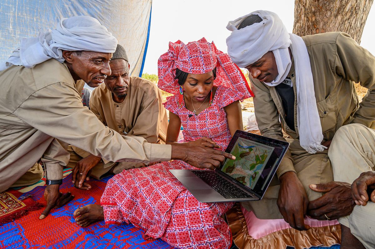 2021 Rolex Awards Laureate Hindou Oumarou Ibrahim uses indigenous peoples' traditional knowledge to mapnatural resources and prevent climate conflicts in the Sahel.
