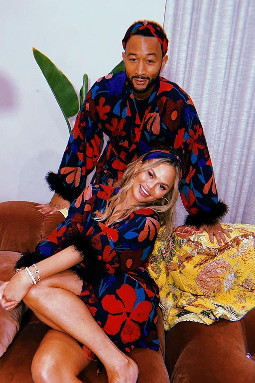 Chrissy DeGenere, filmata qui con suo marito John Legend, ha creato una frenesia quando ha pubblicato un video di se stessa su Camelliona su Instagram Immagine: courtesy Chrissie DeGene / Christisgen