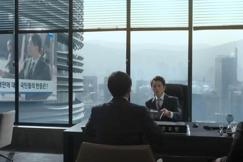 Biuro Kanga Yo-hana w The Devil Judge jest lustrzanym odbiciem eleganckiego wnętrza wieżowca Zdjęcie: dzięki uprzejmości TVN
