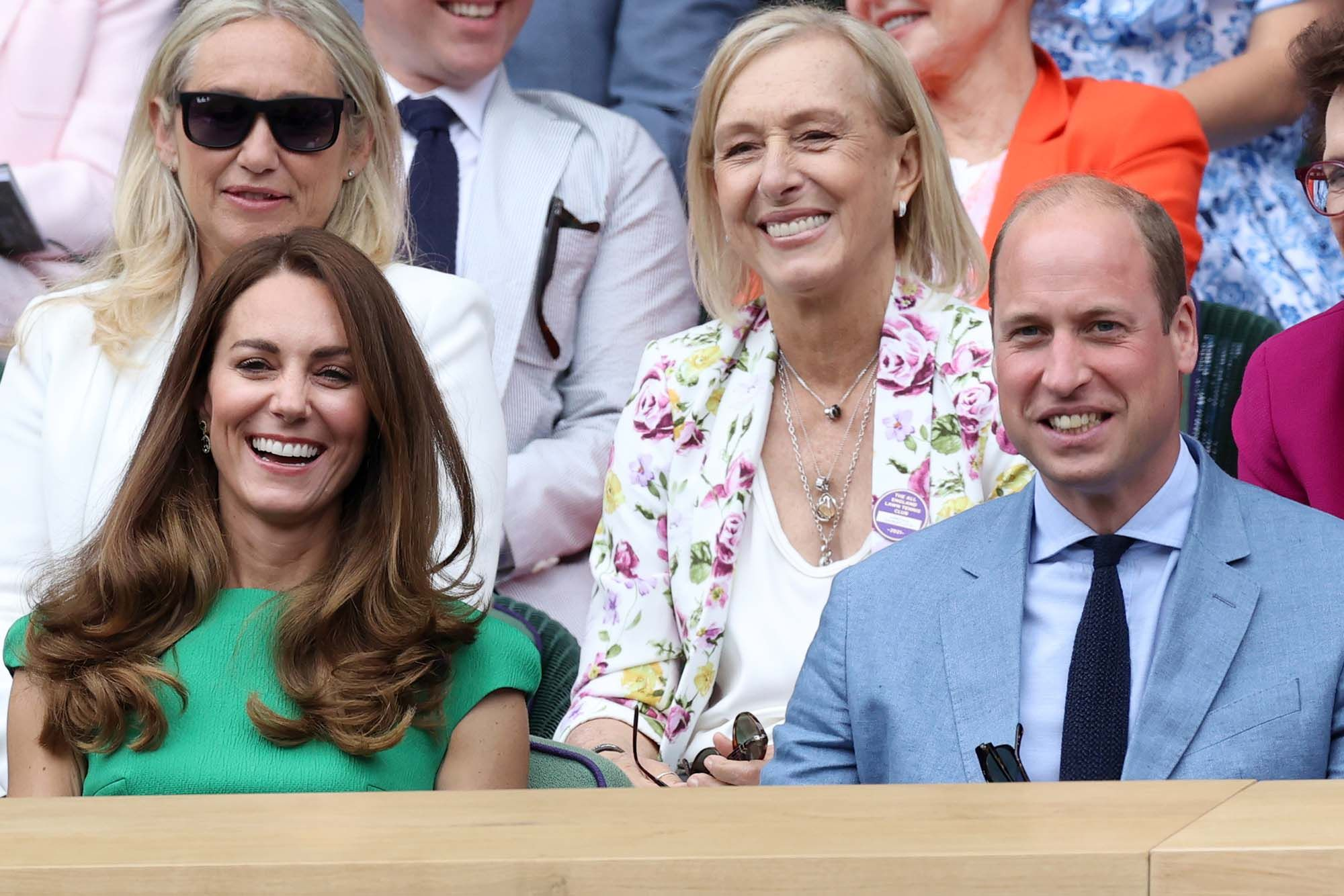 Prince William, Duke of Cambridge and Catherine, Duchess of Cambridge attend day 12 of the Wimbledon Tennis Championships. (Photo: WireImage)
