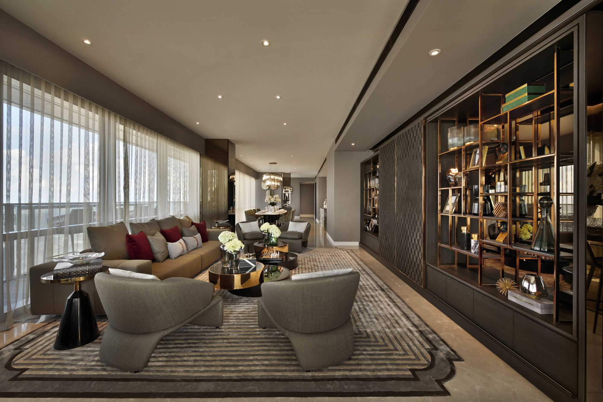 A penthouse at Wallich Residence designed by Evocateurs (formerly known as The ID Dept). Image: GuocoLand