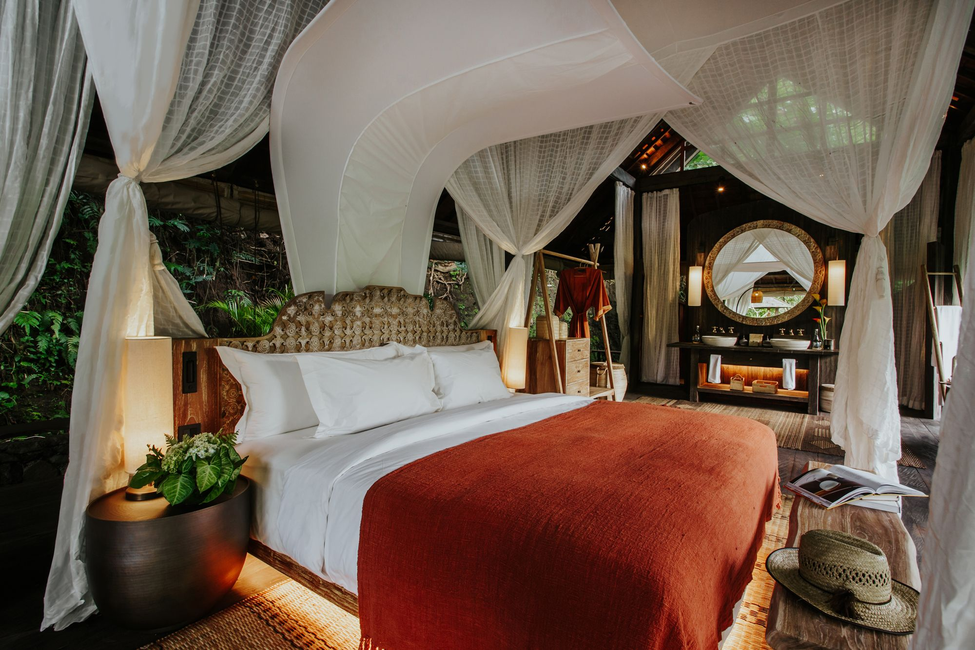 Each villa is decked out in warm furnishings and soft textiles Image: Courtesy of Banyan Tree Holdings