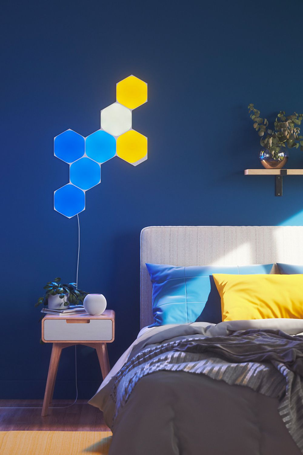 The Nanoleaf Shapes lighting panels also allows you to use Siri to voice-control its settings Image: Courtesy of Nanoleaf