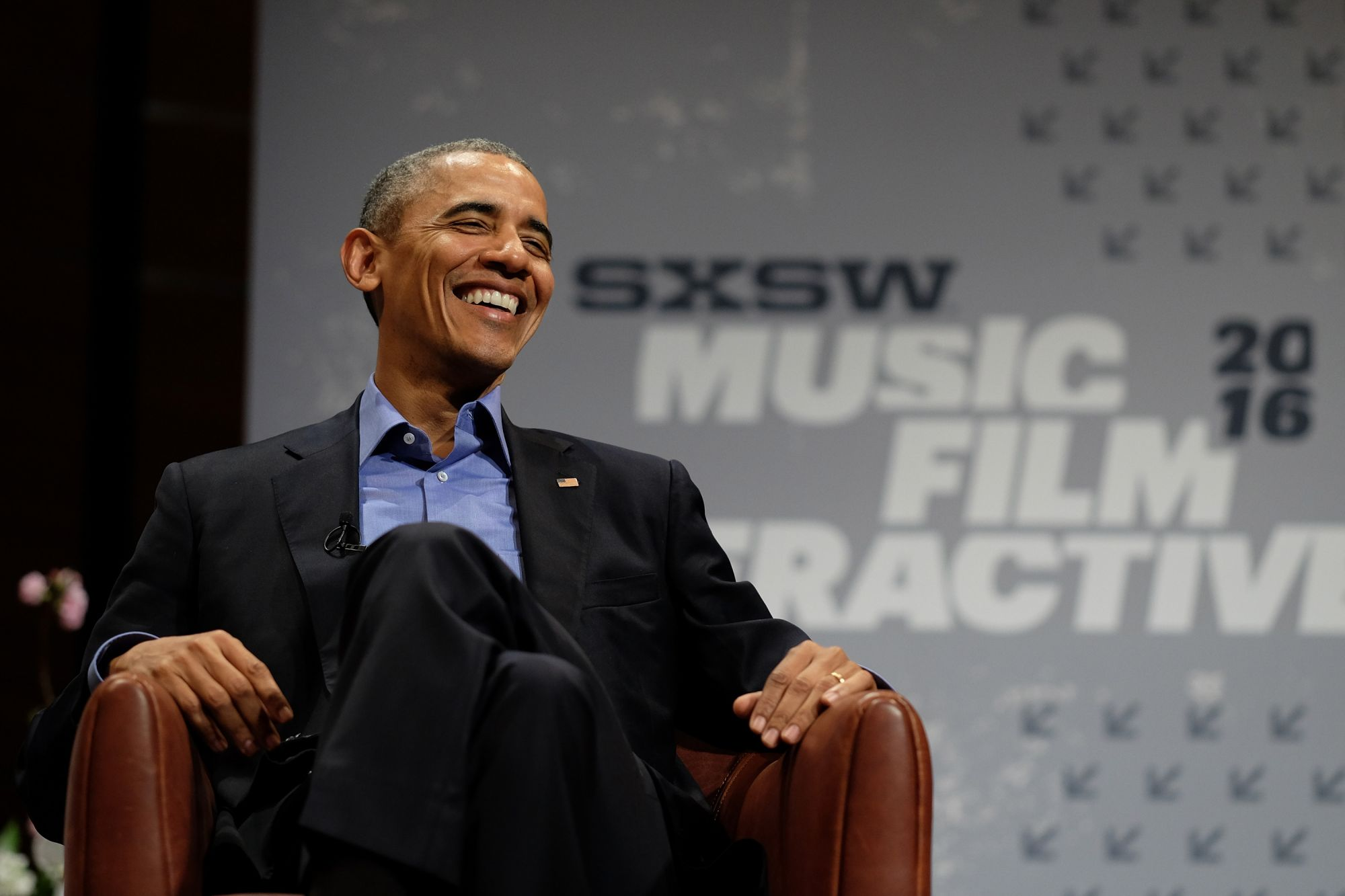 AUSTIN, TX - MARCH 11: President Barack Obama speaks at the opening Keynote during the 2016 SXSW Music, Film + Interactive Festival at Long Center on March 11, 2016 in Austin, Texas. (Photo by Neilson Barnard/Getty Images for SXSW)
