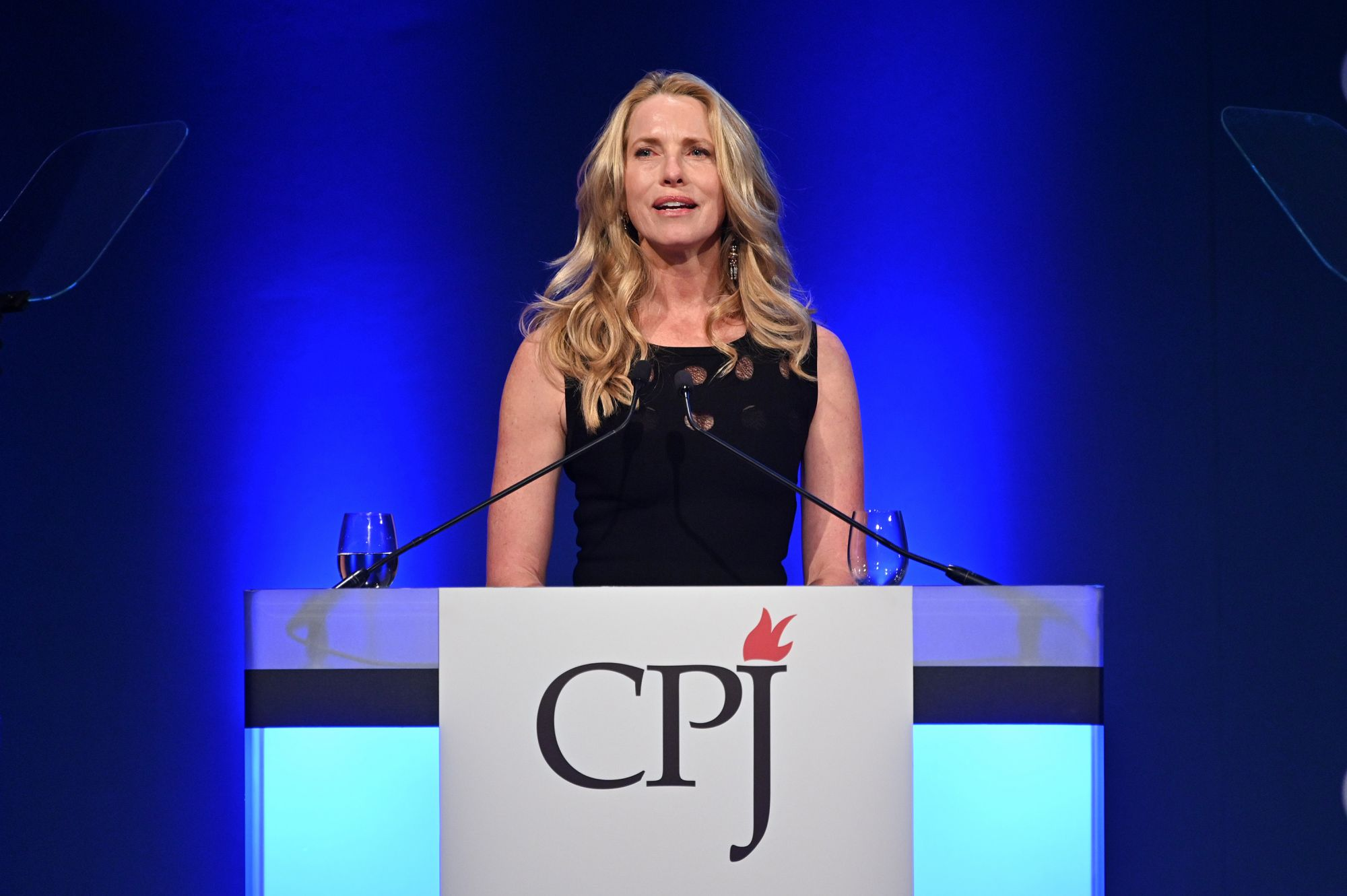 NEW YORK, NEW YORK - NOVEMBER 21: Laurene Powell Jobs speaks onstage at the Committee to Protect Journalists' 29th Annual International Press Freedom Awards on November 21, 2019 in New York City. (Photo by Dia Dipasupil/Getty Images)