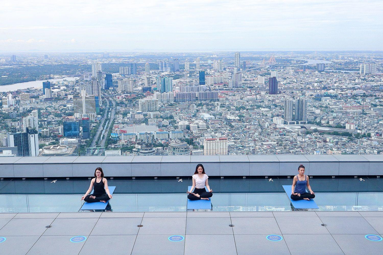 Experience Bangkok's Highest Yoga Class At King Power Mahanakhon