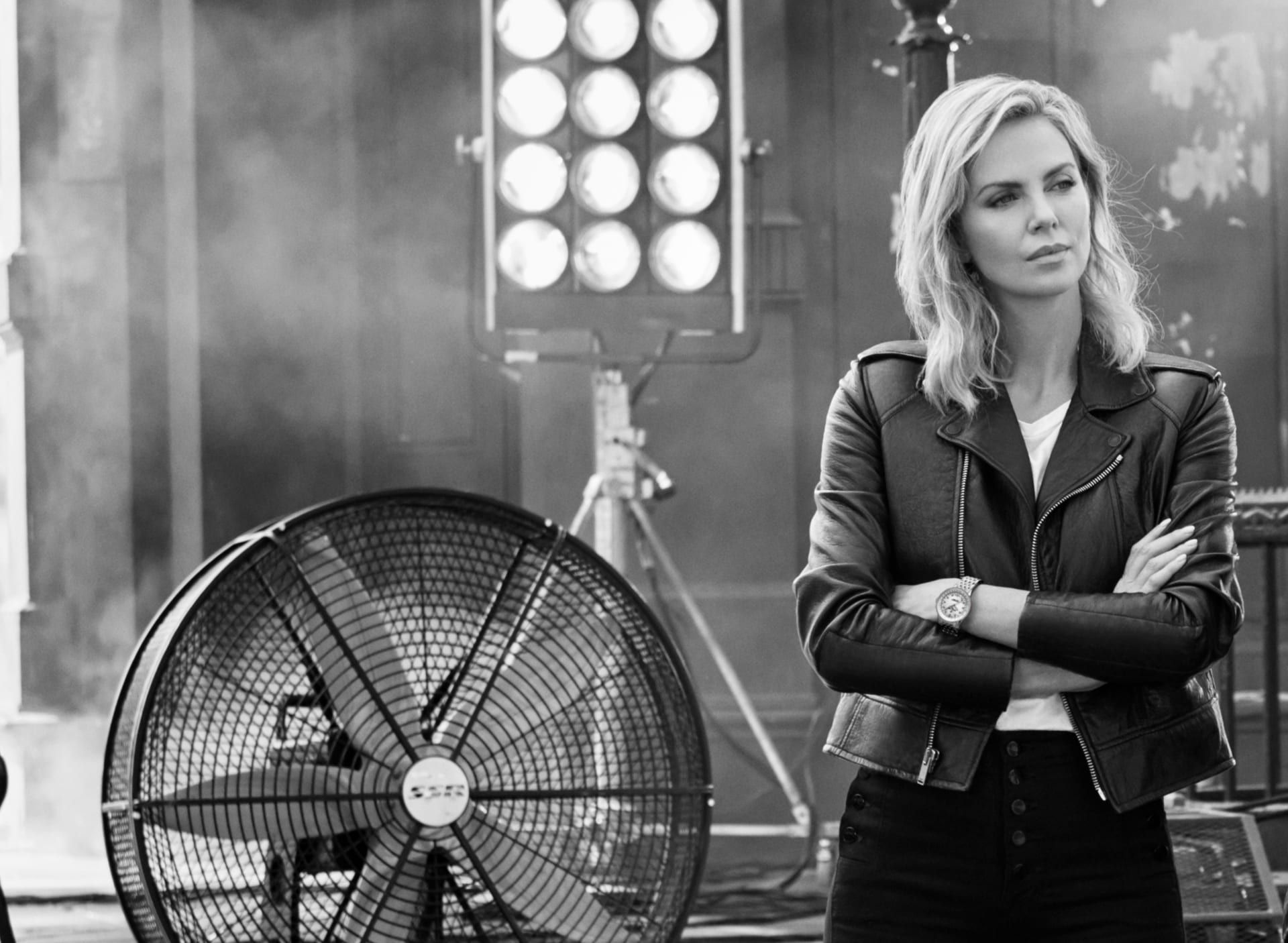 Charlize Theron Wears Breitling's Chronomat For Women