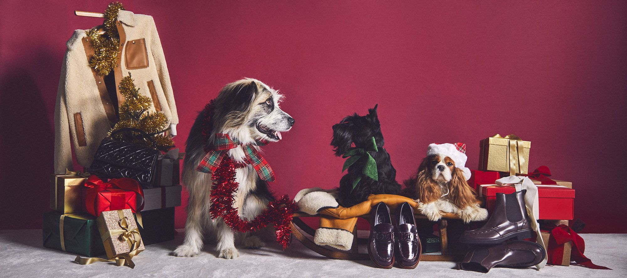 Furry Friends Steal The Spotlight In This Season's Holiday Fashion Campaigns