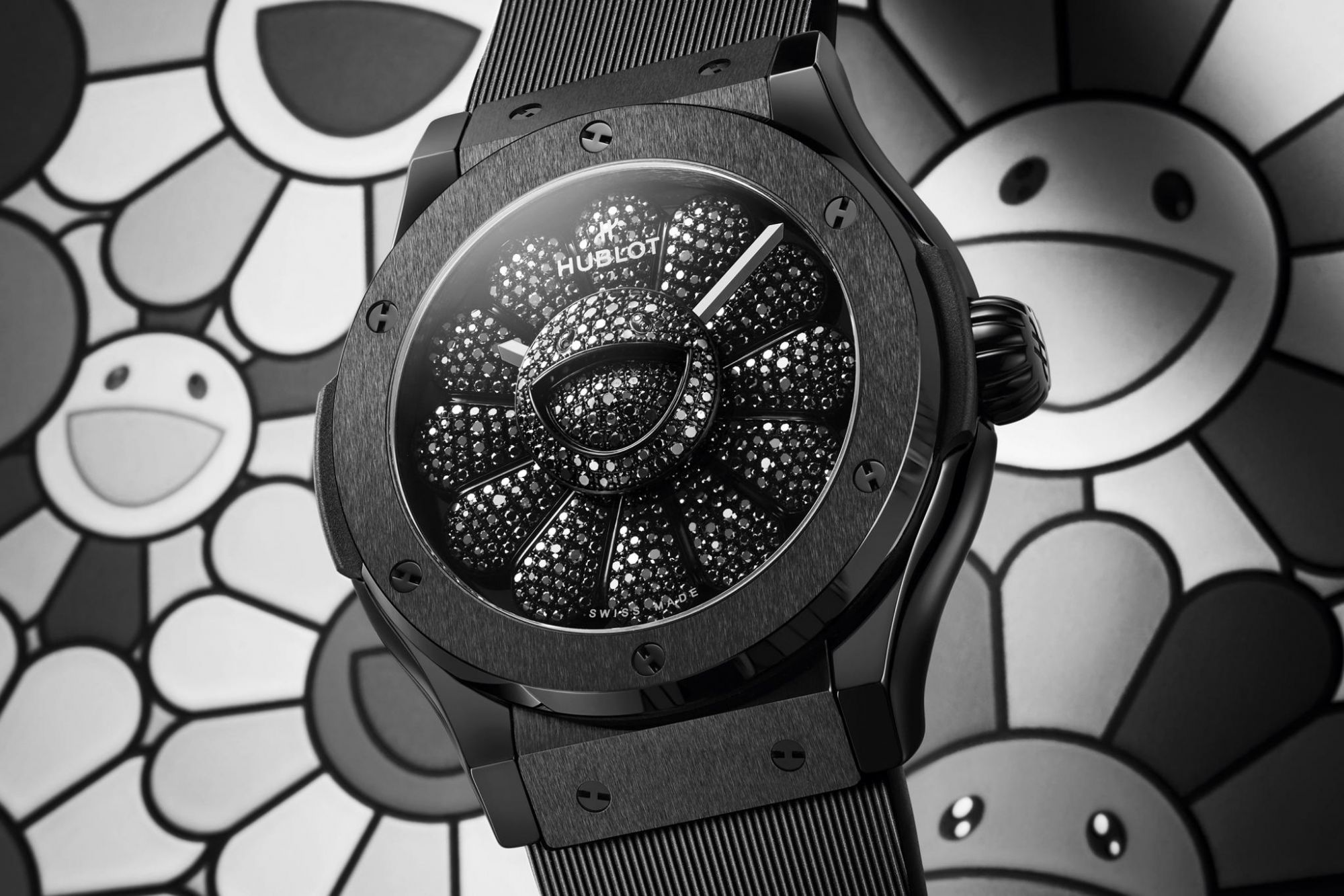 Takashi Murakami & Hublot Join Forces For A Whimsical Black Diamond Timepiece