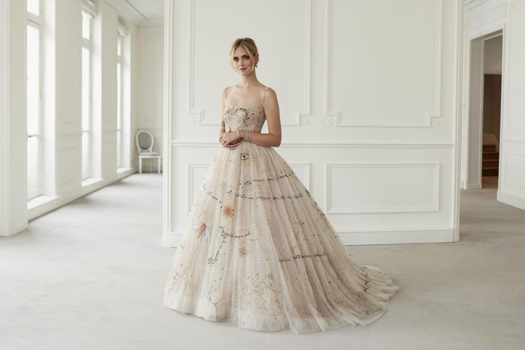 最美九月新娘!時尚部落客 Chiara Ferragni 身穿 Dior 訂製婚紗步上紅毯見證愛情